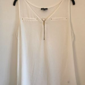 Express Off White Sleeveless Top
